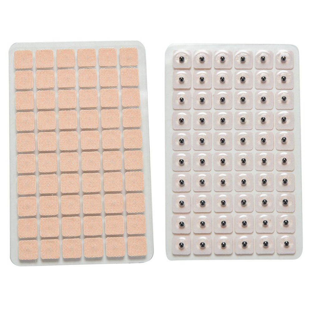 600pcs/lot Ear Care Seeds Sticker Ear Massage Therapy Needle Patch Auricular Auriculotherapy Vaccaria Wholesale