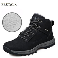 New Hiking Shoes Outdoor Boots Senderismo Sport Sneakers Men Climbing Waterproof Sportive Lace Up Genuine Leather
