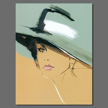 Modern sexy lady hat figure living room Decoration Cat woman Canvas printed Painting poster wall hanging home decor unframed