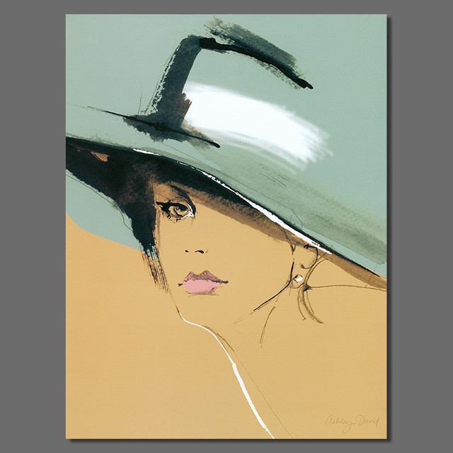 Modern sexy lady hat figure living room Decoration Cat woman Canvas printed  Painting poster wall hanging home decor unframed 9fc24d72ea8