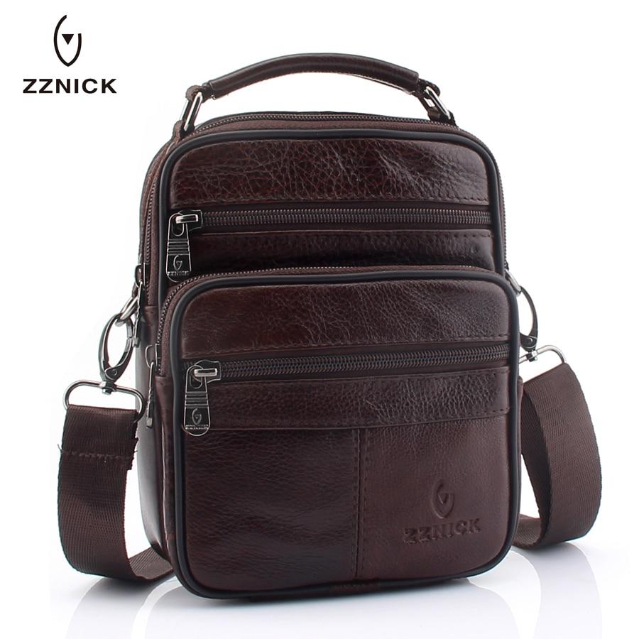 2020 Genuine Cowhide Leather Shoulder Bag Small Messenger Bags Men Travel Crossbody Bag 2