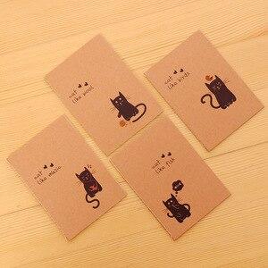 2 шт./лот, маленький винтажный мини-ноутбук из крафт-бумаги с птицами, медведями, кошками, совами, лисами, блокнот, школьная акция, подарок, дне...