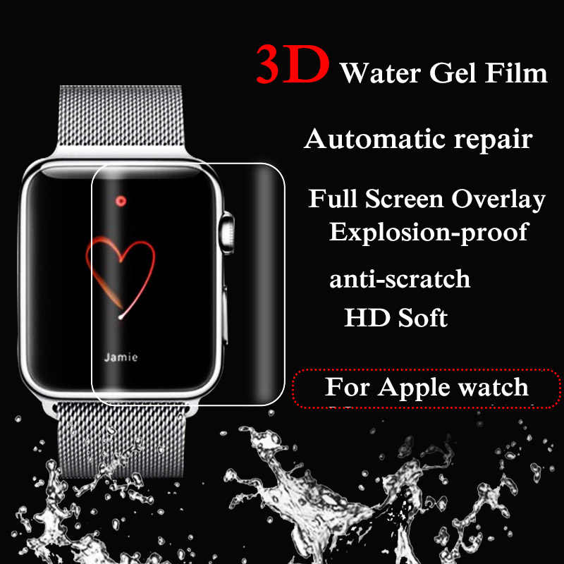 38/42 MM New High Quality 3D Hydrogel Screen Protection Film TPU Water Gel Film Transparent For Apple Watch Series 1 2 3  Oct22