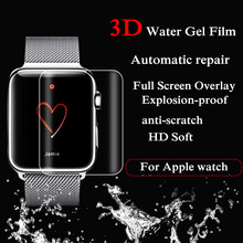 38/42 MM New High Quality 3D Hydrogel Screen Protection Film TPU Water Gel Film Transparent For Apple Watch 2 3 4 40mm 44mmOct22 цена 2017