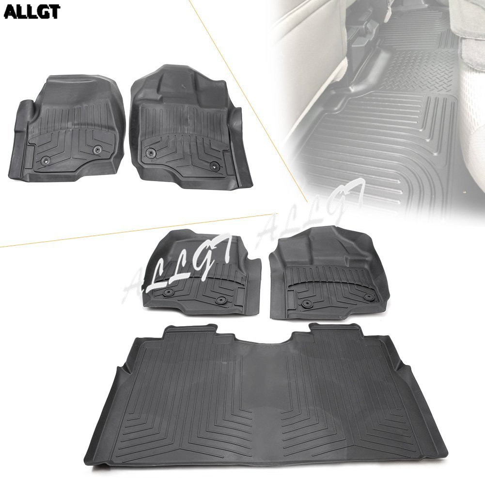 Us 148 79 7 Off For 2017 Ford F 150 F 250 F 350 Supercrew All Weather Rubber Slush Floor Mats Set 3 Pieces On Aliexpress