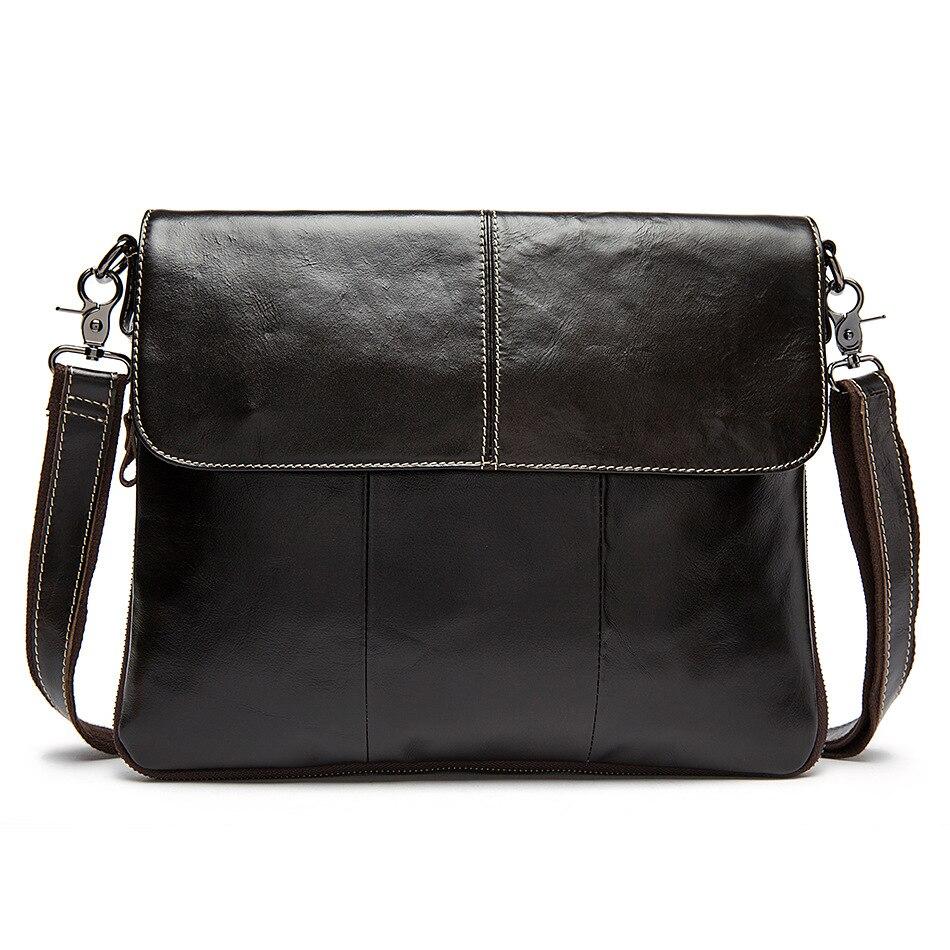 Men Messenger Bags Top Genuine Leather Bag Designer Handbags High Quality Cowhide Man Shoulder Bag famous designer handbags цены онлайн