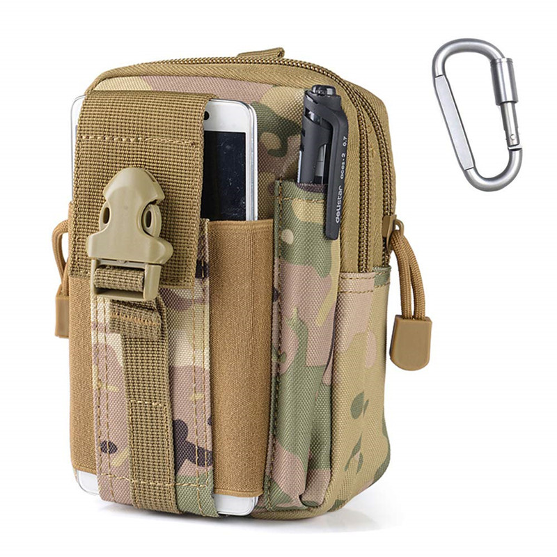 Multifunctional EDC Outdoor Tactical Waist Bag Pouch Gadget Belt Bag Tactical Pack Security Pack Carry Camping Hiking Kits Pack