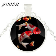 Buy koi fish necklace and get free shipping on aliexpress 2018 new fashion koi fish necklace chinese carp asian art pendant necklace fish gift glass aloadofball Images