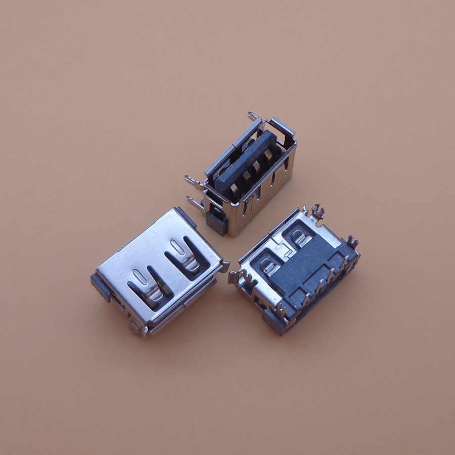 2 pcs AC DC USB Port Jack Plug Socket 2.0 USB KONEKTOR pin untuk Acer Toshiba C660 C660D Satellie M805D L450D 10 MM notebook laptop
