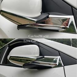 Dla Hyundai Encino/Kona 2017 2018 widok z tyłu lustro deszcz pokrywa lusterka wsteczne wykończenia osłona przeciwsłoneczna chromowane akcesoria samochodowe ABS