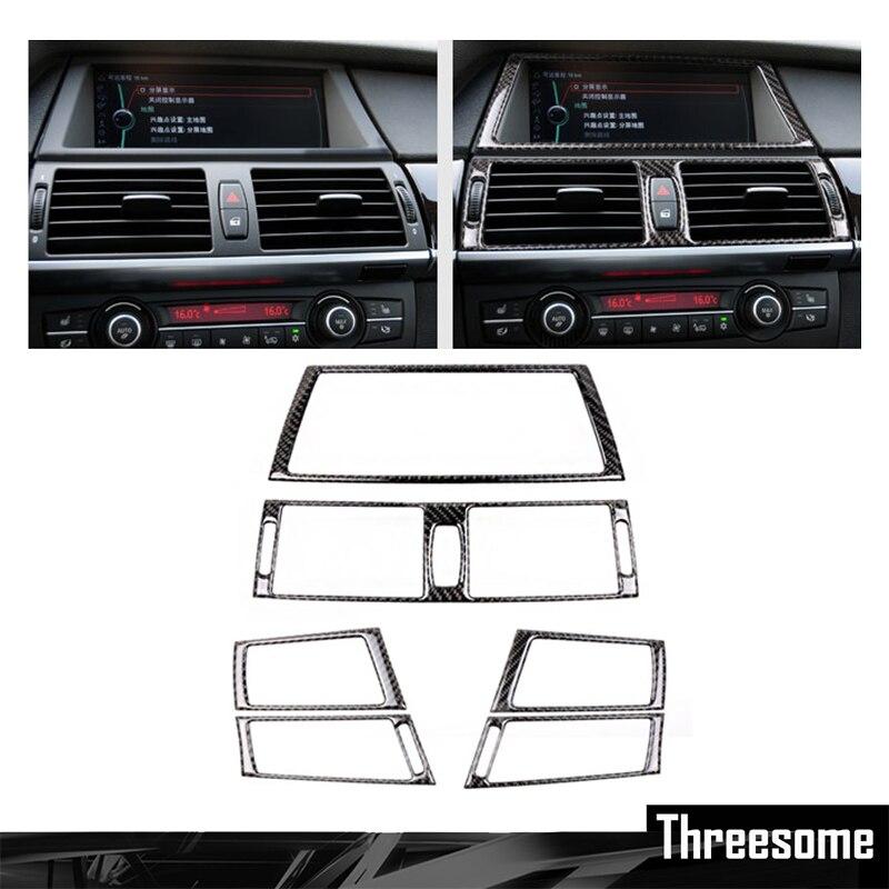 SRXTZM For BMW E70 E71 X5 X6 Carbon Fiber Car Interior