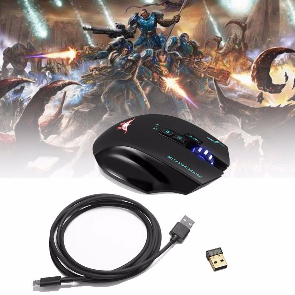 Rechargeable 2.4G Wireless Wired Gaming Mouse Optical Mice with 4 DPI Levels+8 Buttons+3 Colors Breathing Lights for Mac PC passages 2ed all levels interchange 3ed passages 2ed dx2