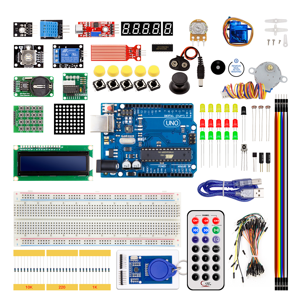 UNO R3 KIT Upgraded version for Arduino DIY Starter Kit RFID Learn Suite Stepper Motor + ULN20031 set ...