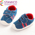 2015 Newborn Baby Sneakers Cotton Fabric Patch Work Hook And Loop Easy On And Off First Walkers Baby Boy Shoes  Selling