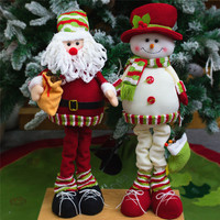 Santa Claus Snow Man Elk Doll Christmas Decoration Xmas Tree Decent Ornaments Wholesale Free Shipping