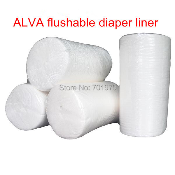 20 Rolls 100 Biodegradable and Disposable Bamboo Flushable Diaper Liner