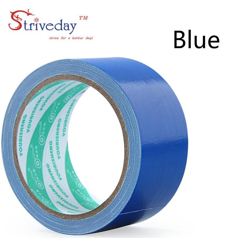 1 шт. 60 мм в ширину и 10 м цветная тканевая основа лента односторонняя сильная Водонепроницаемая без следа высокая вязкость ковер лента DIY - Цвет: Blue