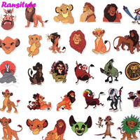 R309 40 pcs/set The Lion King PVC Waterproof Fun Sticker Toy Luggage Sticker Motorcycle and Luggage Notebook Sticker