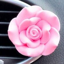Adorno de coche ambientador automático Perfume Aire acondicionado Ventilación Perfumes ambientador de aire Rosa coche Accesorios de decoración de interiores