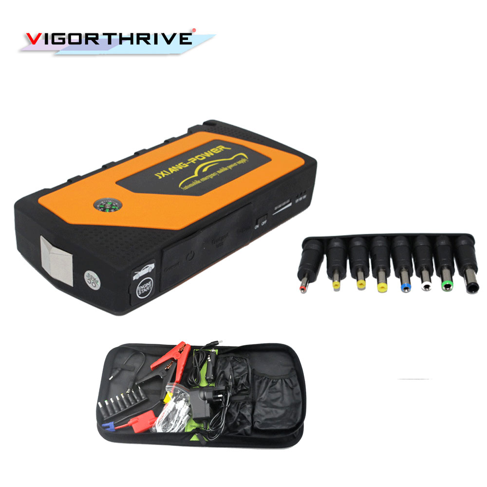 hot sale Car Battery Charger Portable Multi-Function Mini Car Jump Starter Booster Power Bank For 12V Car