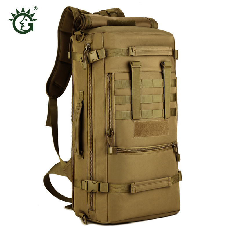nylon military waterproof backpack bag 50 l multifunctional leisure fashion notebook air ...