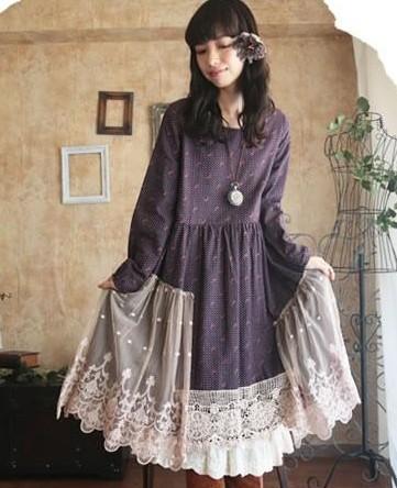 Swell Aliexpress Com Buy Forest Mori Girl Vintage Dress Long Sleeve Hairstyles For Men Maxibearus