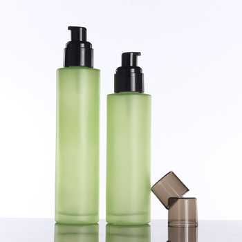 100PCS A Lot 100ml bottle glass make up container for foundation packaging lotion/spray pump bottle