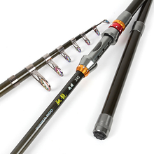 YeMuLang Brand Portable Telescopic Fishing Rod Carbon Ultralight Spinning Carp Fly Fishing Rods Goods For Fishing 1.8-3.6M