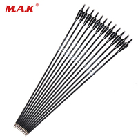 6 12 24pcs 30 Inches Spine 500 Carbon Arrow With Black And White Color For Recurve