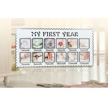 Baby Growth Memorial Photo Picture Frame My First Year Newborn 12 Months Birthday Gift Home Room Wall Decoration