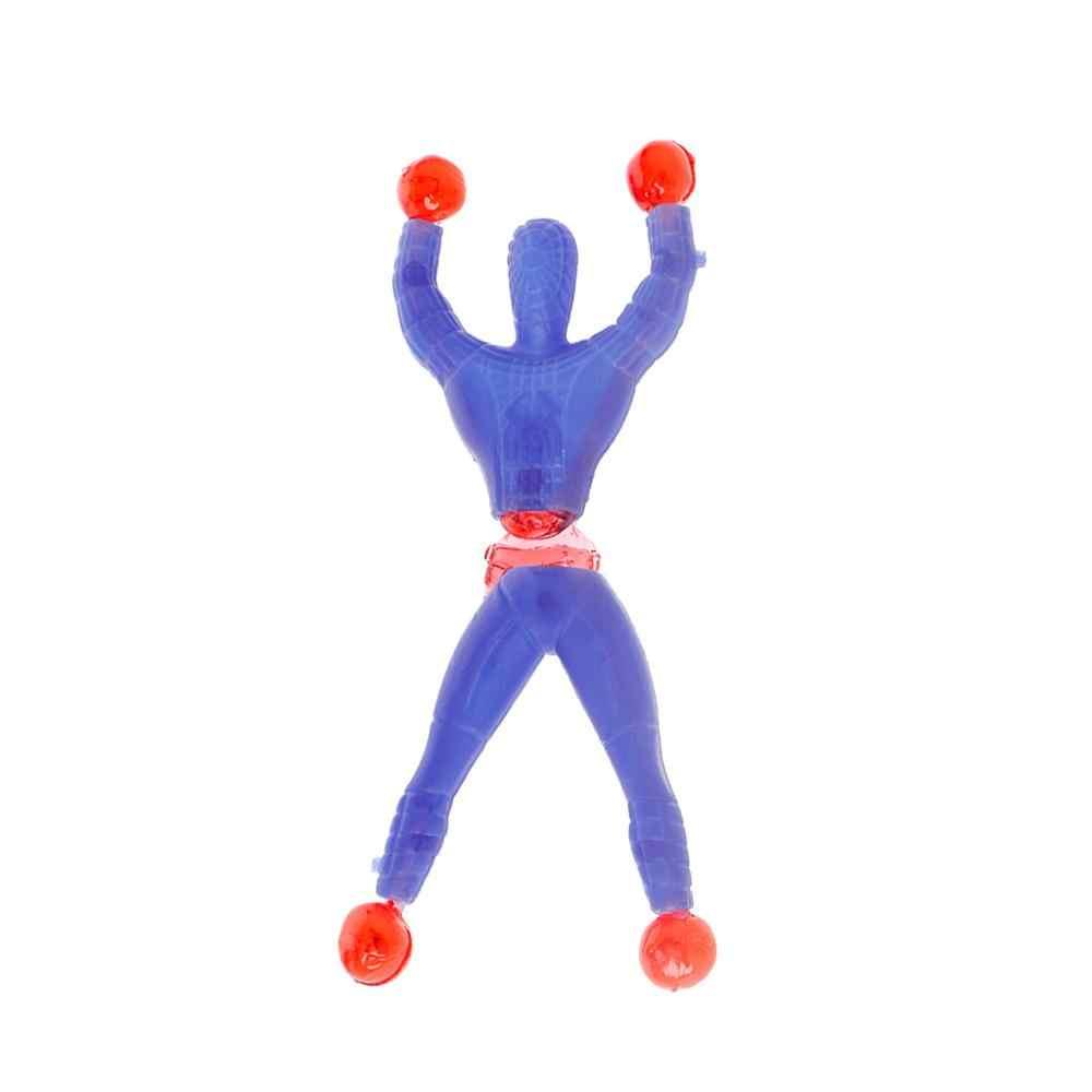 لزجة مطاطا الرجل العنكبوت متعة بسط الاطفال لعبة جدار تسلق سوبر بطل الشكل