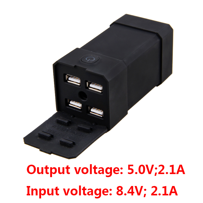 8.4V 12000mah 4 USB ports out rechargeable battery pack 5V 2.1A USB out FOR phone bike bicycle light+charger cycling accessories 3 6v 2400mah rechargeable battery pack for psp 3000 2000