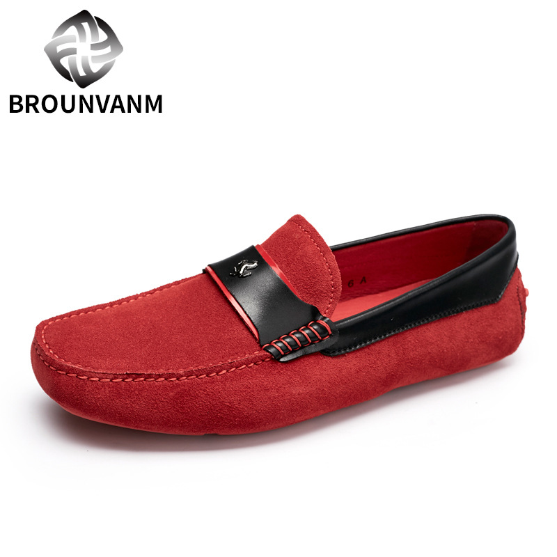 Перший шар шкіряного взуття для британських чоловічих шкіряних черевиків матовий Metrosexual водіння взуття з м'яким дном вручну