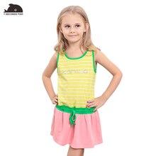 Здесь можно купить   girl summer dress  cotton sleeveless sport dress for 3-12 year teenage baby girl dress 7 seconds fish kids brand clothes  Children