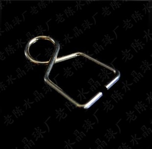 Best Selling---AAA Top Quality 8*14mm+500pcs /lot Metal Hooks Plated Chromium Connectors For Crystal Chandelier Ball Pendants