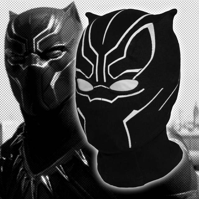 Marvel Black Panther Balaclava Full Face Mask Captain America Civil War  Halloween Cosplay Costume X- 4430683117ec