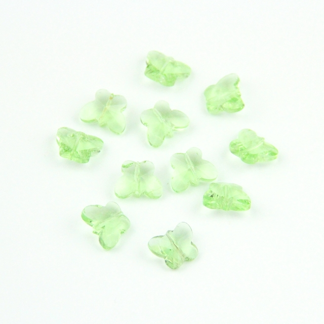 Big Discount Lt Green 500pcs 14mm Glass Butterfly Beads Free Shipping,Wedding Garland Strand Beads Putting Up Christmas Tree