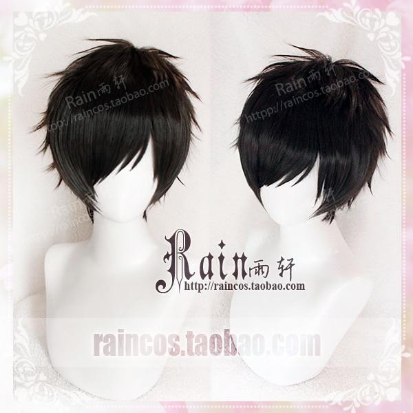 High Quality Anime YURI!!! on ICE / Yuri On Ice Katsuki Yuuri Short Black Cosplay Wig Synthetic Hair Cos WIgs
