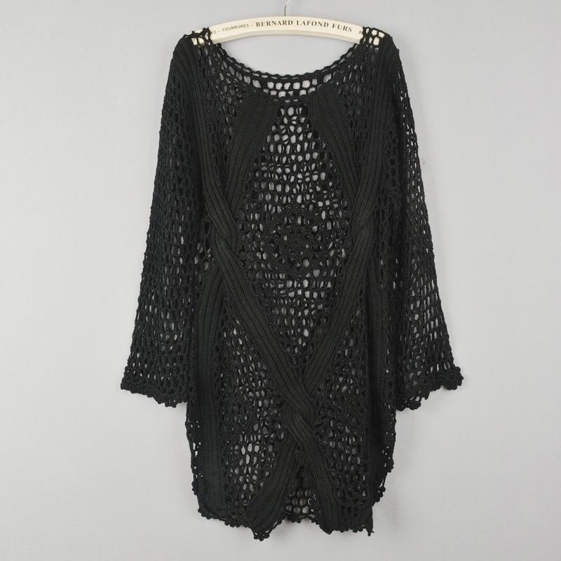 Új divat tavasz Őszi új divat Kézi hollowout kötött pulóver - Női ruházat - Fénykép 4