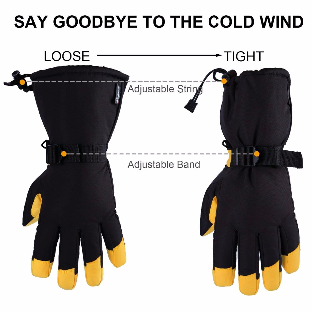 Men Women Winter Outdoor Sports Ski Thermal Insulation Waterproof Gloves Mittens