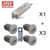 12 PZ AC100V a AC240V IP65 Diffuso Bagno Lampada Interrata Mini Giardino Esterno Sepolto Luce LED 1 W