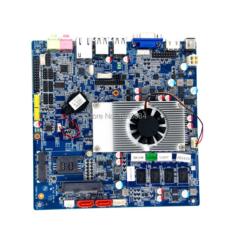 все цены на Server Mini-ITX Motherboard Industry motherboard factory hot sale NM70 chipset onboard 1037u cpu onboard онлайн