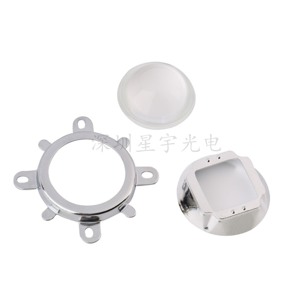 44mm Lens + Reflector Collimator + Fixed Bracket 60/90/120 Degree  For 20w 30w 50w 100w Led Chip