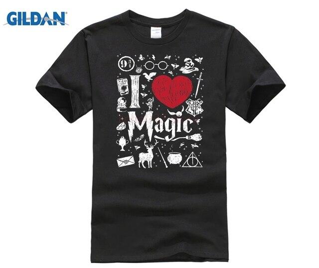 e39caebdab POTTER superior me encanta la magia camiseta nueva camiseta de moda de los hombres  ropa de
