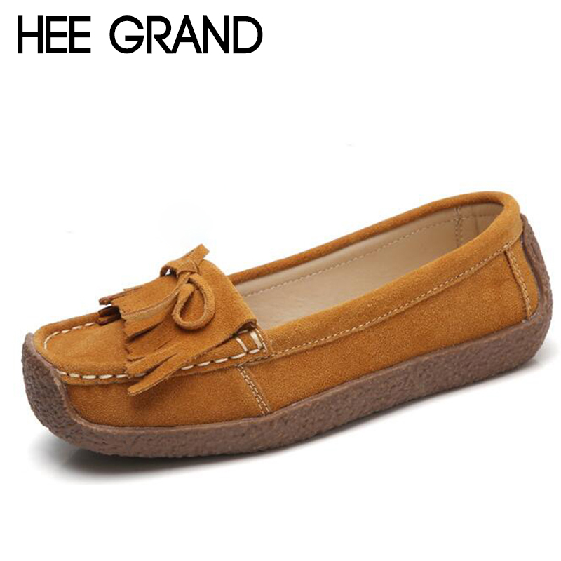 HEE GRAND Flock Loafers Casual Shoes Bowknot Woman Platform Rubber Bottom Mother Slip On Flats Comfortable Women Shoes XWD6433 hee grand camouflage creepers 2017 lace up platform shoes woman wedges loafers slip on flats casual fahsion woman shoes xwd6038