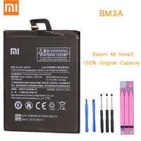 Oryginalna bateria do telefonu dla mi Note 3 bateria Xiao mi Note3 BM3A akumulatorki zamienne z pakietem detalicznym bateria do mi Note 3
