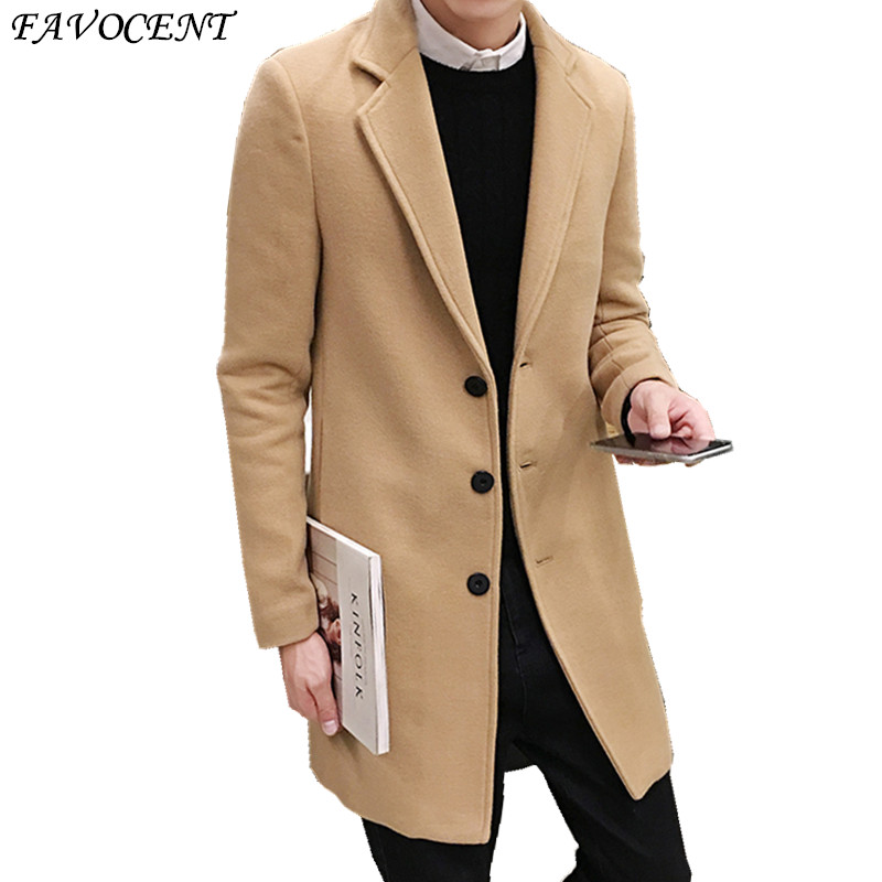 Sobretudo Fashion Standard Single Breasted Button Regular Special Offer Top Fashion Peacoat 2018 Free Shipping Woollen Overcoat