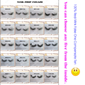 New 5 pair  mink eyelash wholesale 100% real mink fur Handmade crossing group natural individual strip thick lash(Any five)