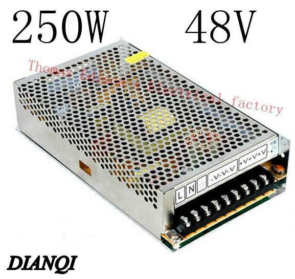 S-250-48 led power supply switch 250W  48v  5A ac dc converter S-250w  48v variable dc voltage regulator   power supply unit s 200 9 led power supply switch 200w 9v 22 2a unit ac dc converter 9v variable dc voltage regulator adjustable output voltage