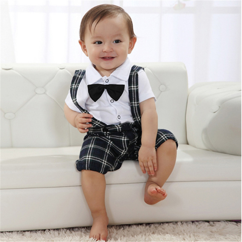 Handsome Baby Boy Wedding Bow tie Occasion Christening Tuxedo Suit ...